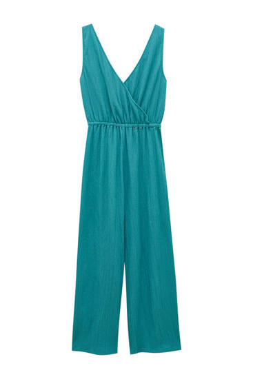 Strappy crepe jumpsuit