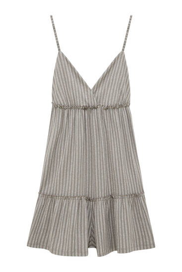 Striped strappy playsuit