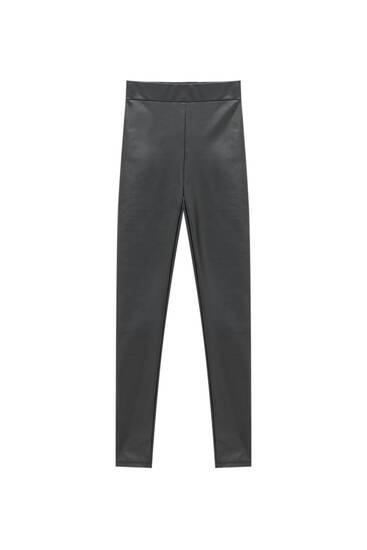Basic faux leather leggings