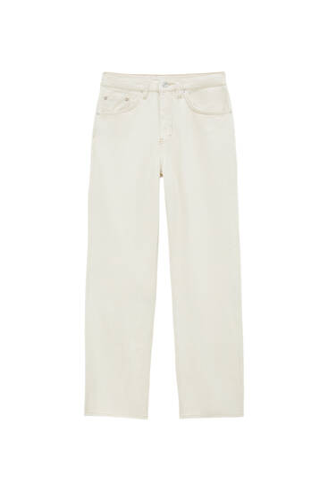 Mid-rise loose fit jeans