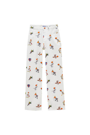 Space Jam trousers with all-over print