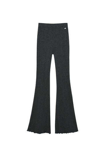 Flared trousers with visible seams