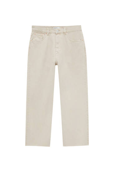 Straight-leg colourful cropped jeans