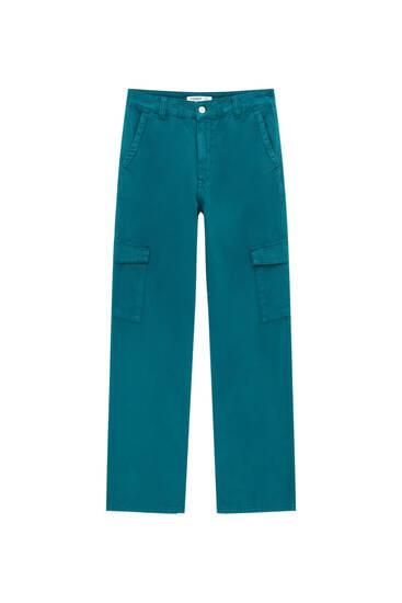 Jeans cargo wide leg