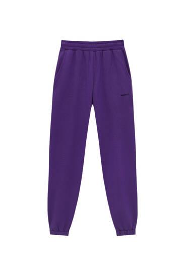 Farebné teplákové nohavice