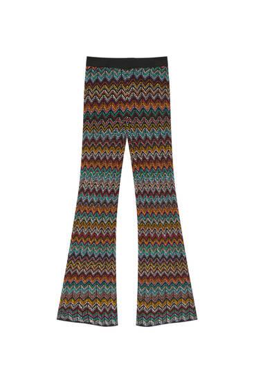 Παντελόνι με σχέδιο ζιγκ ζαγκ σε ίσια γραμμή