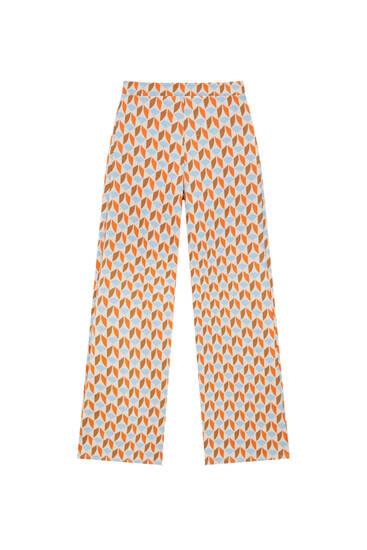 Жакардові штани з геометричним принтом