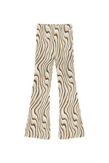 Παντελόνι καμπάνα με κύματα