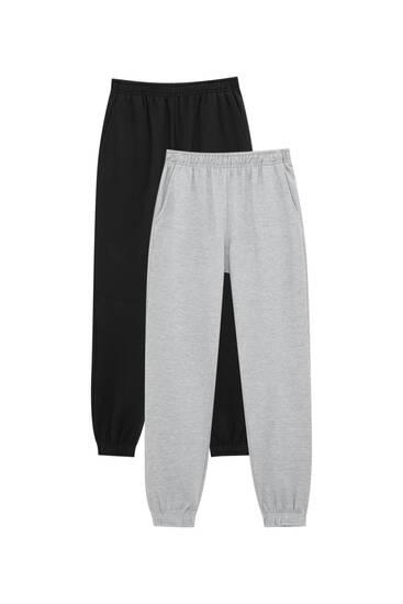 Pack 2 pantalones jogger