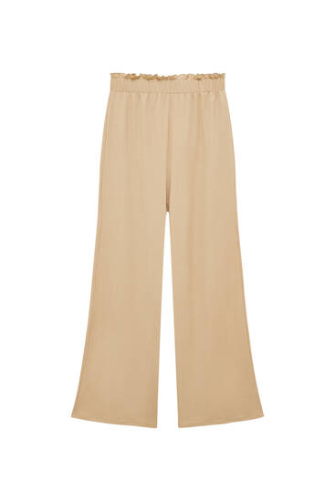 Culottes with elastic waistband