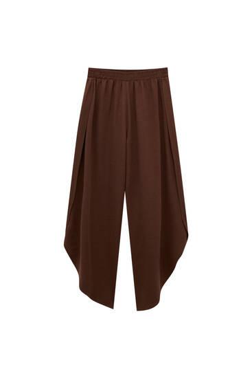Flowing split-hem trousers - ECOVERO™ viscose (at least 75%)