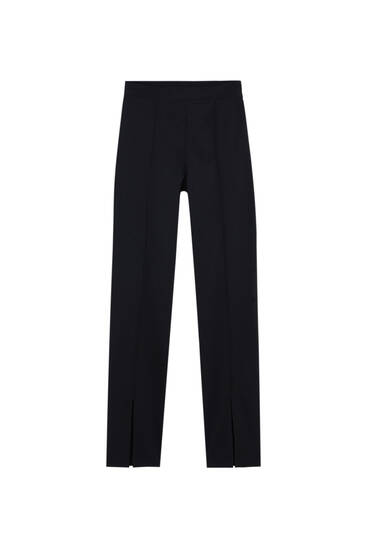 Skinny trousers with vents