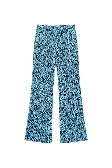 Satiny printed trousers