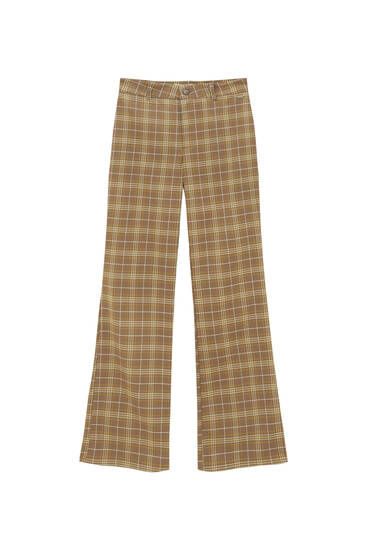 Basic check trousers