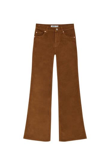 Расклешенные брюки из вельвета