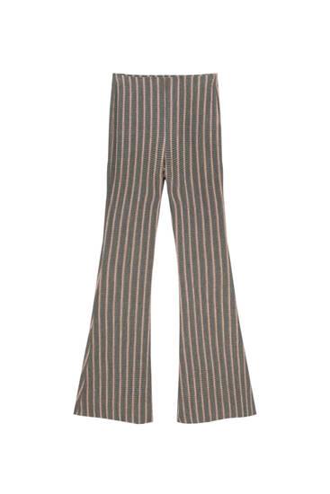 Ριγέ παντελόνι καμπάνα