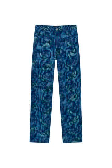 Παντελόνι με πουά ψυχεδελικό σχέδιο
