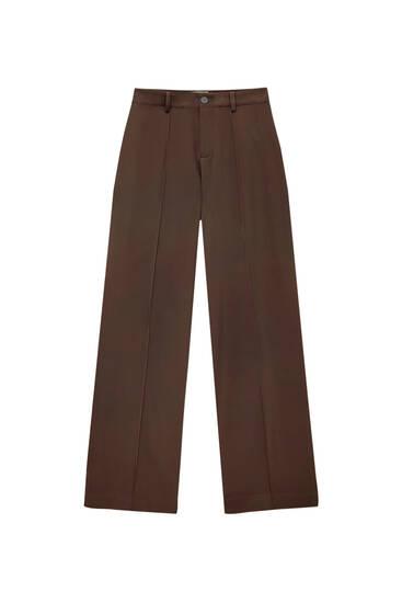 Pantalón regular fit costura delantera