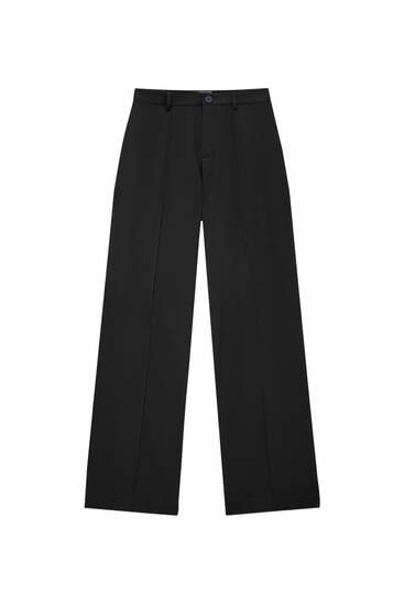 Regular-fit broek met naden aan de voorzijde