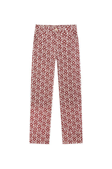 Retro trousers with turn-up hems
