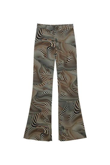 Χυτό παντελόνι με τύπωμα κύματα