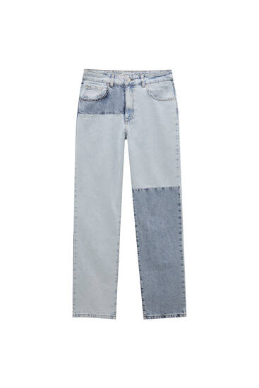 Boyfriend patchwork jeans