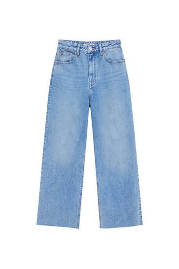 Basic high-rise culotte jeans