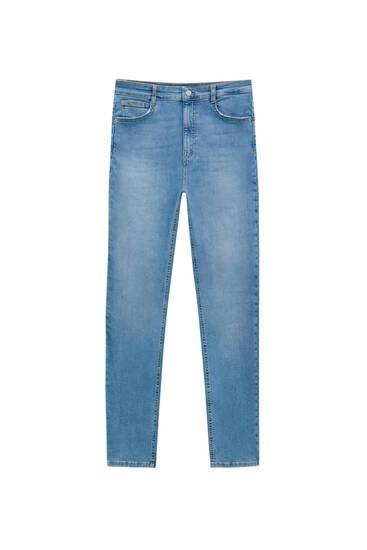 Superskinny-Jeans mit hohem Bund