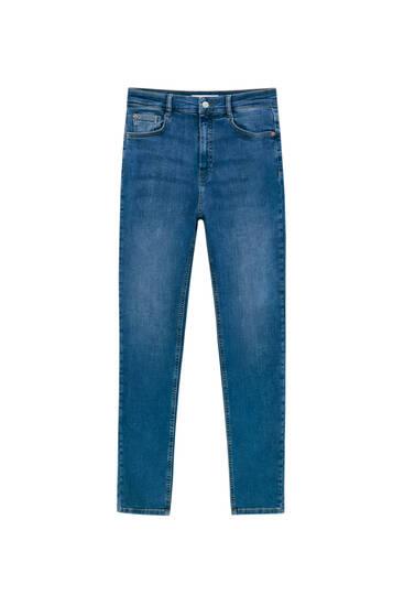 High-waist super skinny jeans