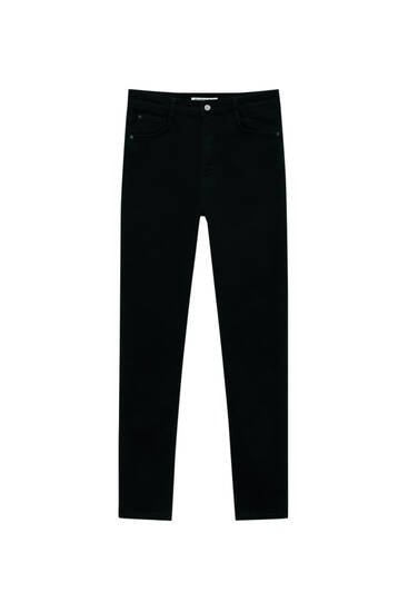 Jeans super skinny tiro alto