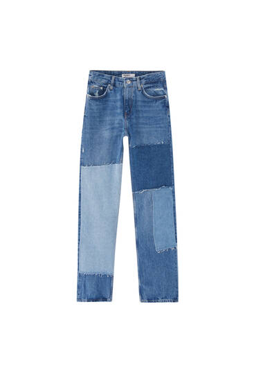 Ripped patchwork boyfriend jeans