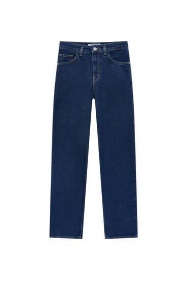 High-waist baggy jeans