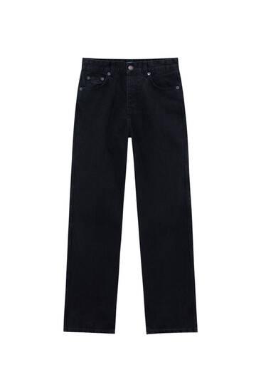 Mid-waist straight-leg jeans