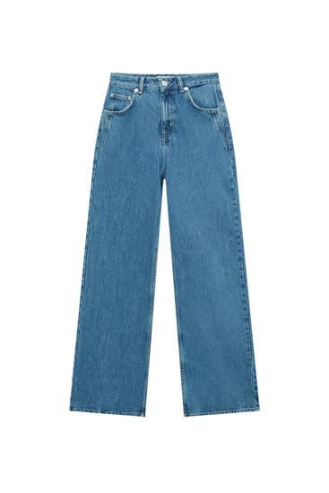 Расклешенные джинсы с высокой посадкой