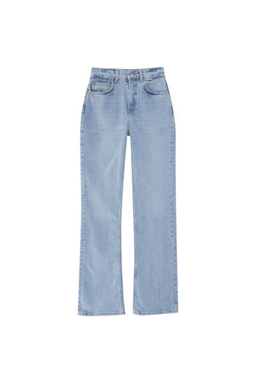 High-waist bootcut jeans - Ecologically grown cotton (at least 50%)