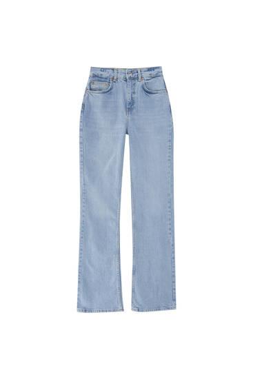 Jeans tiro alto bootcut  - Algodón orgánico (al menos 50%)