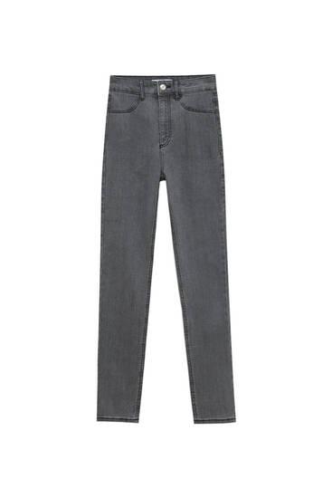 High-waist stretchy skinny jeans