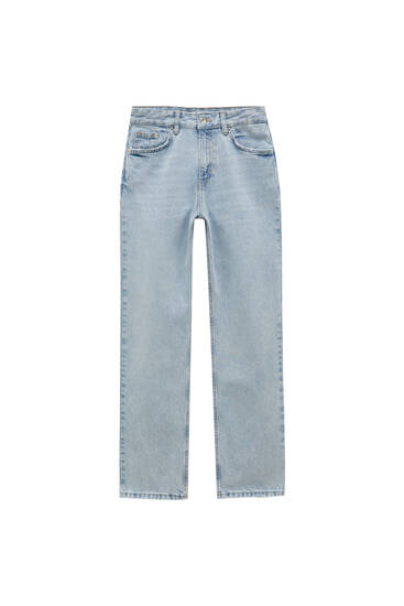 Low-waist boyfriend jeans