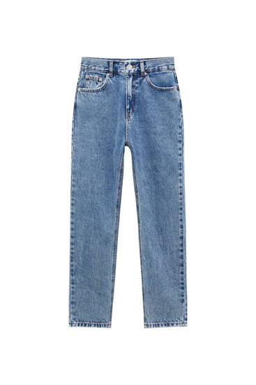 Jeans mom fit básicos - Algodón orgánico (al menos 50%)