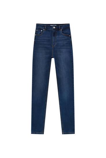 Super high waist stretchy skinny jeans