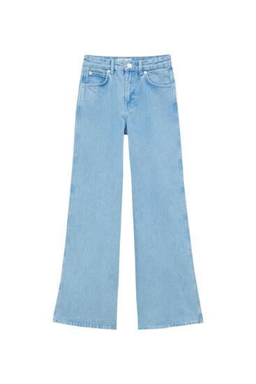 High-waist wide-leg jeans