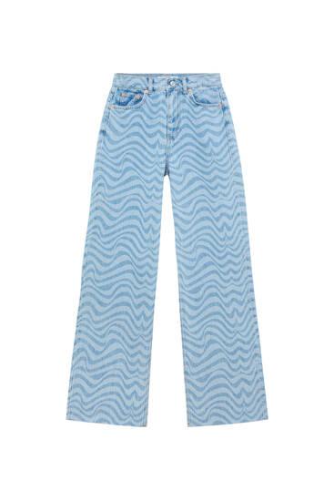 Jeans rectos print psicodélico