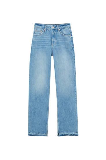 Τζιν παντελόνι flare με σχισίματα