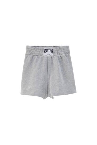 Short boxing tejido felpa