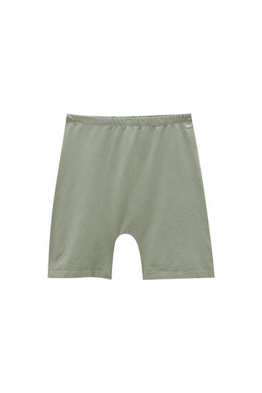 Basic seamless cycling shorts - ecologically grown cotton (at least 90%)
