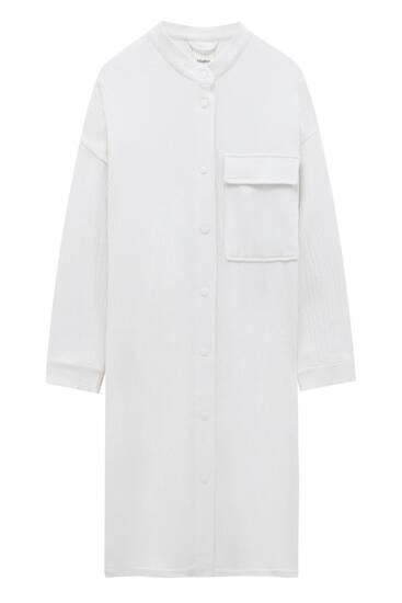 Long rustic overshirt