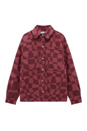 Chequered overshirt