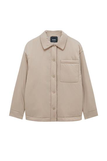 Легкая стеганая куртка-рубашка