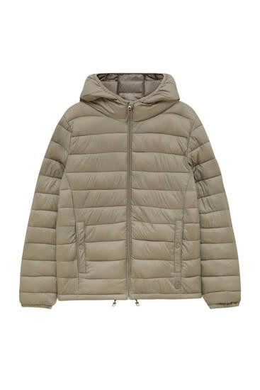 Basic puffer jacket with hood