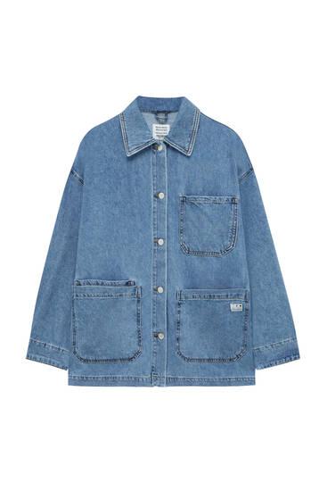 Джинсовая куртка в стиле worker